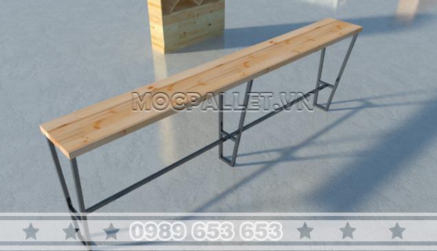 Bàn bar gỗ pallet chân sắt BB07