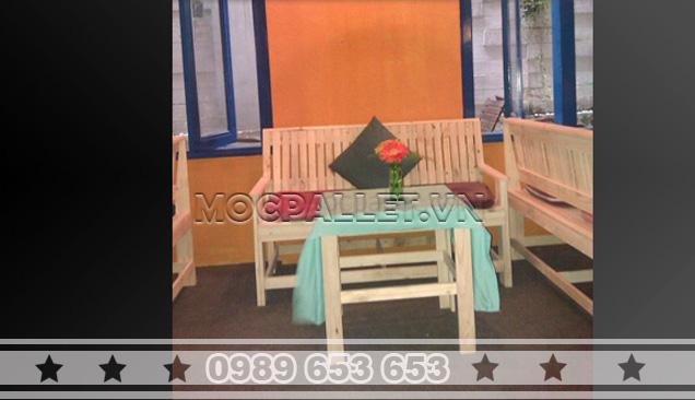 Bàn ghế gỗ thông pallet BG18