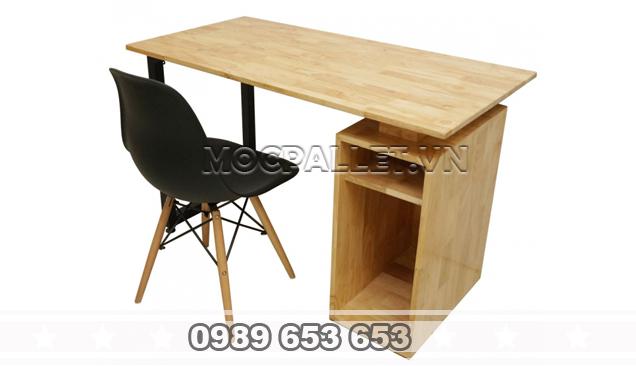 Bàn làm việc gỗ thông BLV 01