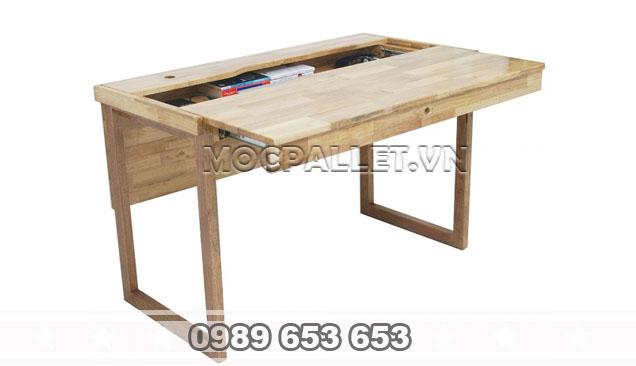 Bàn làm việc gỗ thông BLV 04