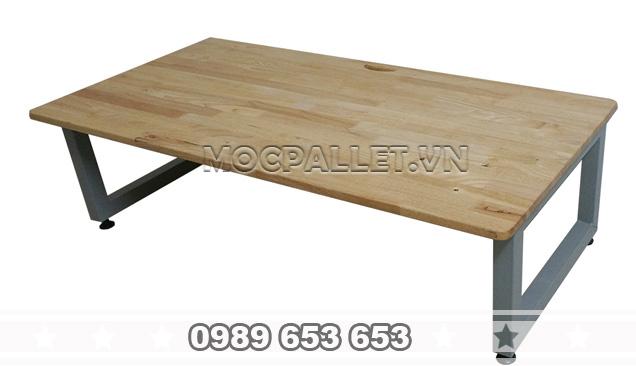 Bàn làm việc gỗ thông BLV 02