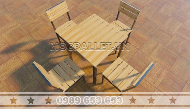 Bộ bàn ghế chân sắt BGS108