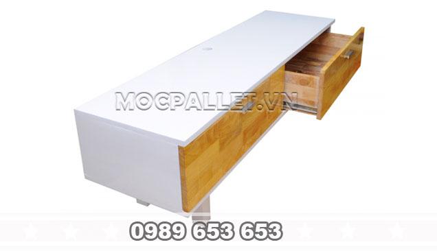 Kệ tivi gỗ thông pallet KTV01