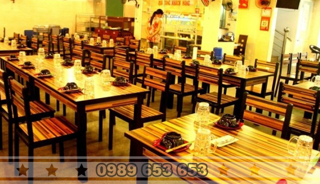 Thiết kế nhà hàng theo phong cách đơn giản bằng đồ gỗ pallet