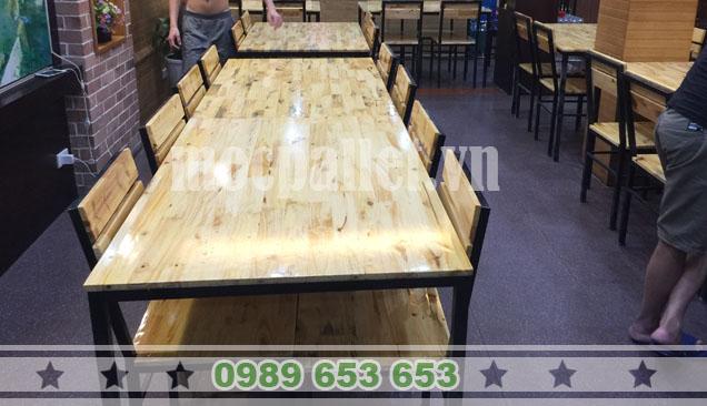 bộ bàn ghế chăn sắt nhà hàng