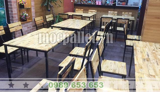 bộ bàn ghế pallet giá rẻ