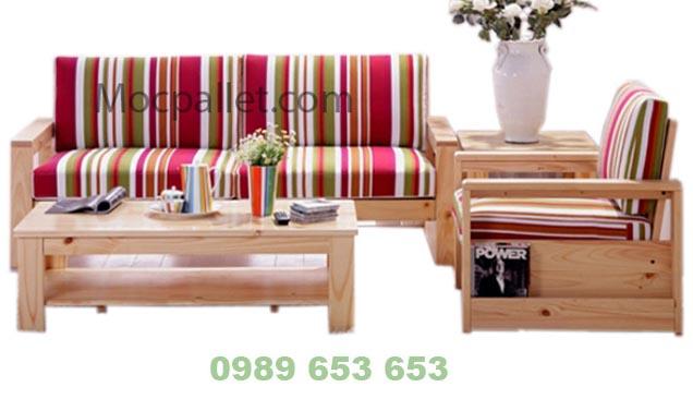 Bộ bàn ghế gỗ thông pallet BG571