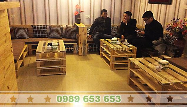 Dự án cà phê bàn ghế Sofa mộc pallet