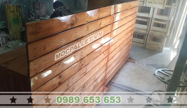 quầy bar gỗ thông pallet giá rẻ 2