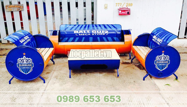 Bộ bàn ghế thùng phi TP01