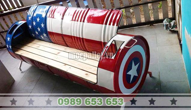 Ghế băng gỗ thùng phi TP03