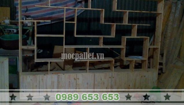 Kệ gỗ thông pallet KG06