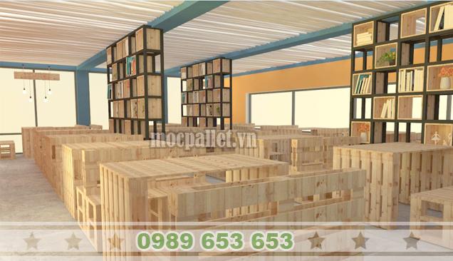 Nhận đóng bàn ghế gỗ cho quán cafe đẹp giá rẻ tại Hà Nội