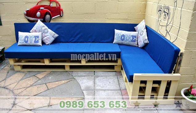 """10 Mẫu sofa phòng khách làm từ gỗ thông pallet """"cực sang chảnh"""""""