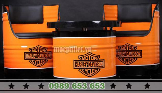 Bàn ghế thùng phi sắt TP35