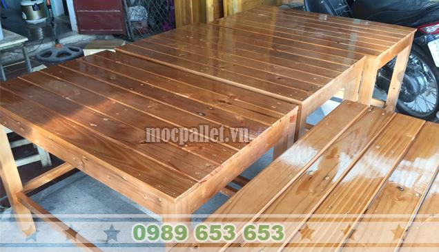 Bàn gỗ thông pallet BT14
