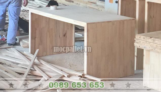 Bàn gỗ thông pallet BT15