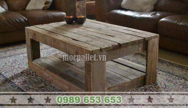 Bàn gỗ thông pallet BT16