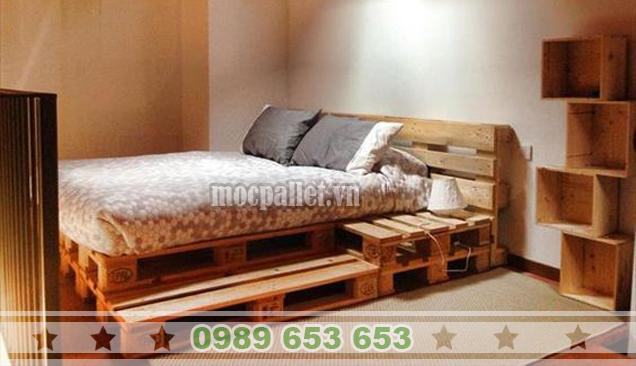 Giường ngủ gỗ thông pallet GN29