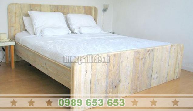 Giường ngủ gỗ thông pallet GN34
