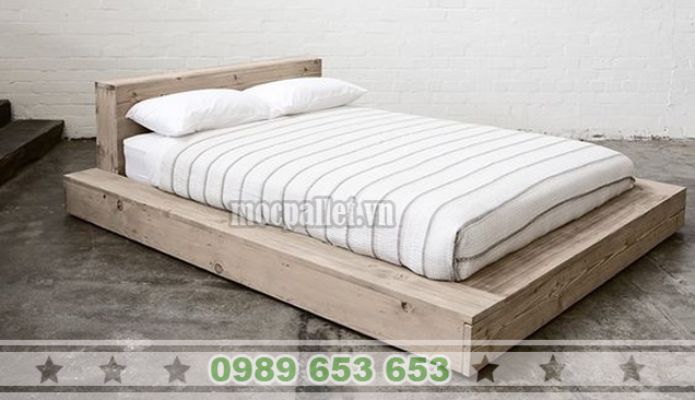 Giường ngủ gỗ thông pallet GN36