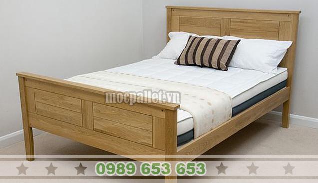 Giường ngủ gỗ thông pallet GN38