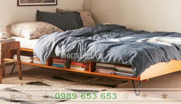 Giường ngủ gỗ thông pallet GN31