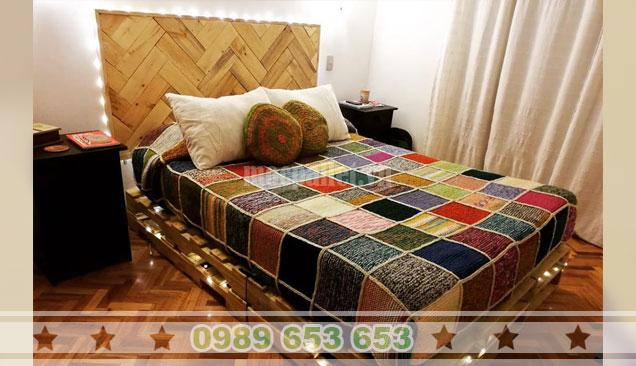 30 mẫu giường ngủ gỗ thông Pallet, giường Pallet 1 tầng 2 tầng