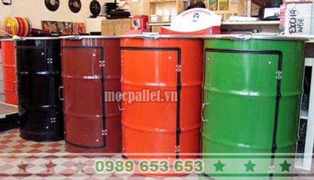 Quầy bar thùng phi sắt TP69