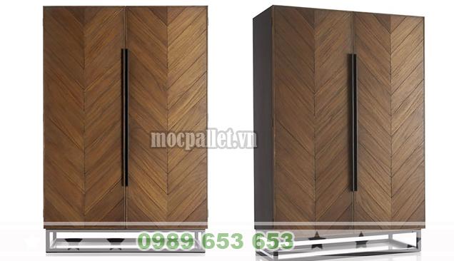 Tủ gỗ thông pallet TG01
