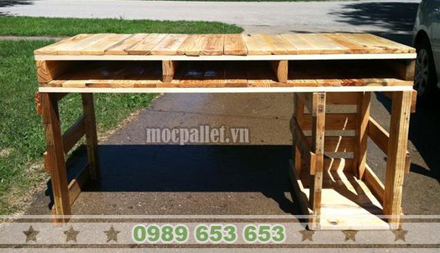 Bàn làm việc gỗ thông pallet BLV 13