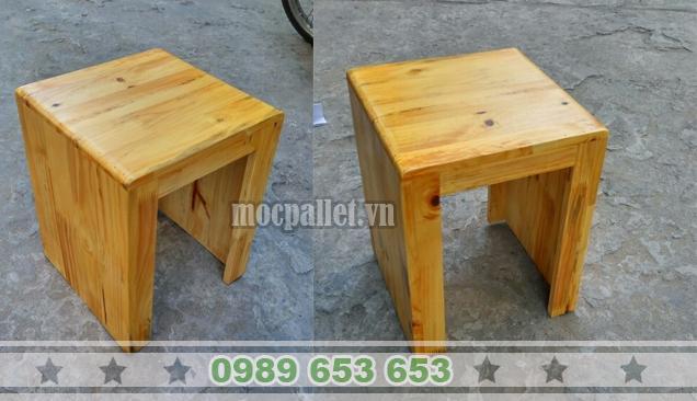 Ghế đôn gỗ thông pallet GG03