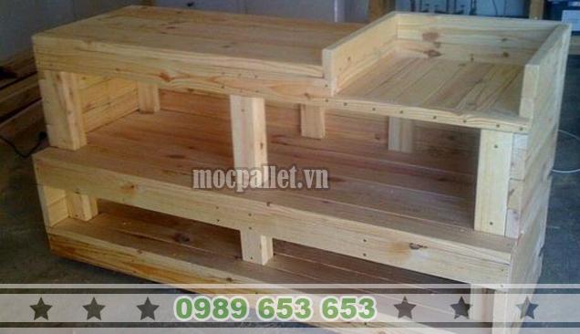 Kệ gỗ thông pallet KG22