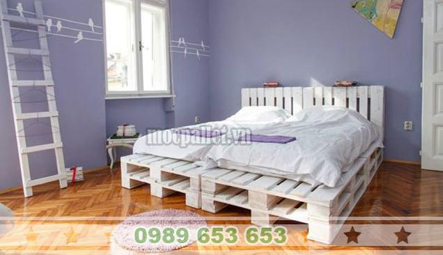 Giường ngủ gỗ thông pallet GN41