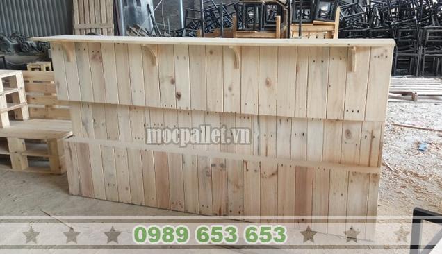 Quầy bar gỗ thông pallet QB34