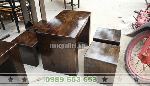 Bộ bàn ghế gỗ thông BG101