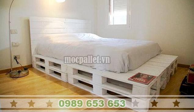 Giường ngủ gỗ thông pallet GN44