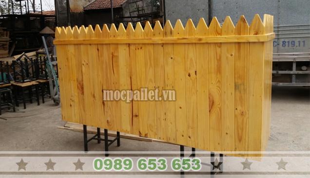 Quầy bar gỗ thông pallet QB38