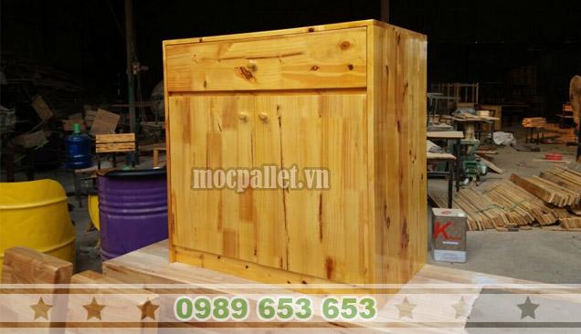Tủ gỗ thông pallet TVP05