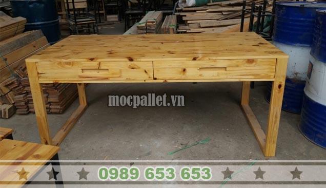 Bàn làm việc gỗ thông BLV18