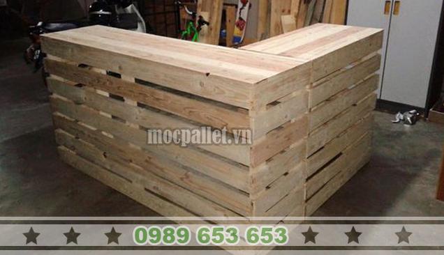 Quầy bar gỗ thông pallet QB41