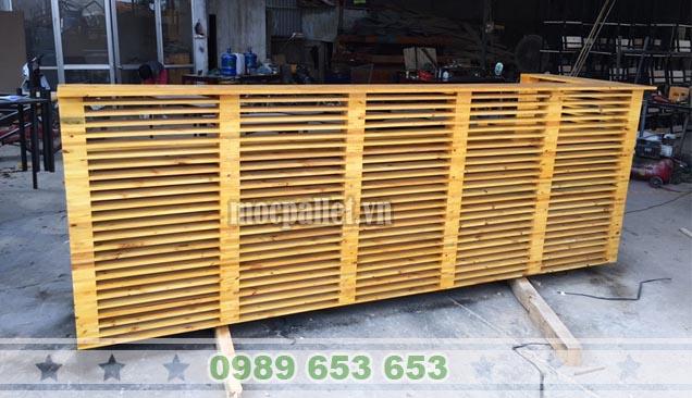 Quầy bar gỗ thông pallet QB42