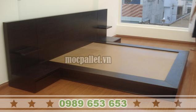 Giường ngủ gỗ thông GN45