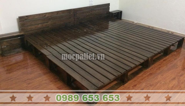 Giường ngủ gỗ thông pallet GN46