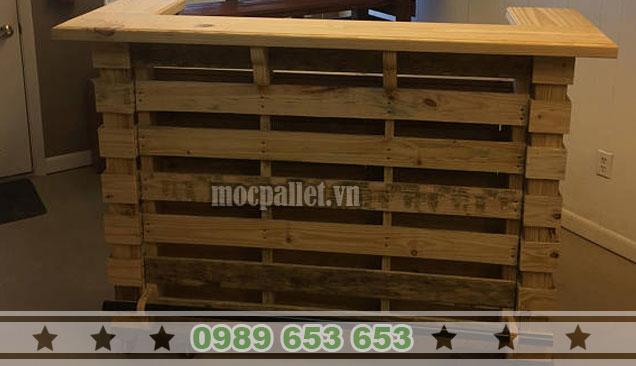 Quầy bar gỗ thông pallet QB45