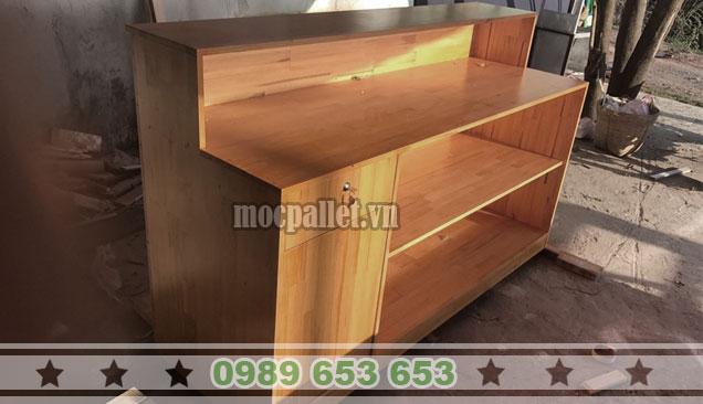 Quầy bar gỗ thông pallet QB46