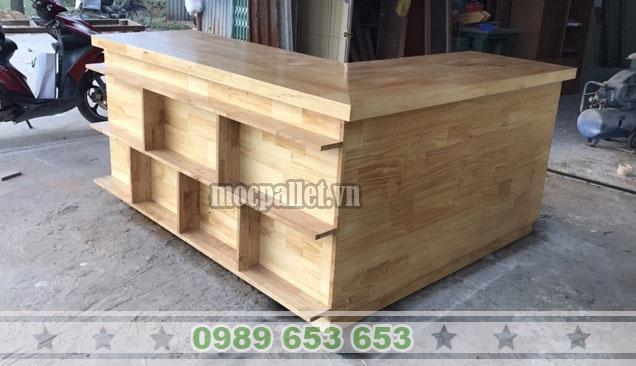 Quầy bar gỗ thông pallet QB47