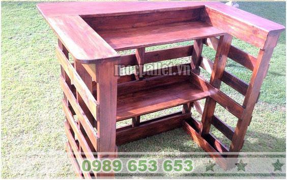 Quầy bar gỗ thông đơn giản QB50
