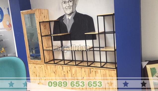 Tủ kệ văn phòng gỗ thông pallet KG30