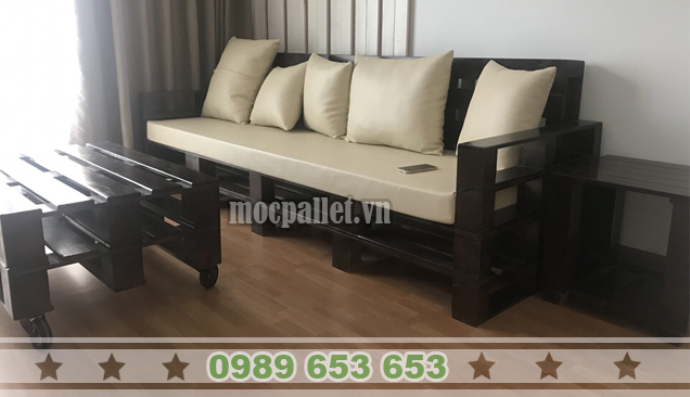 Bộ bàn ghế phòng khách pallet PK22